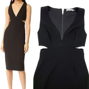 Alice + Olivia Riki Cutout Sheath Cocktail Dress 8